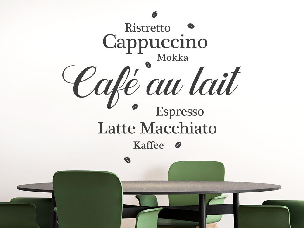 Wandtattoo Café au lait