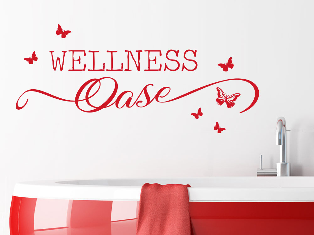 Wandtattoo Wellness Oase Butterfly Badezimmer