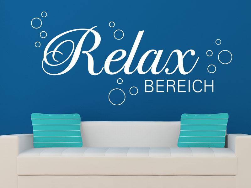 Wandtattoo relaxbereich von klebeheld wandtattoos - Wandtattoo relax ...