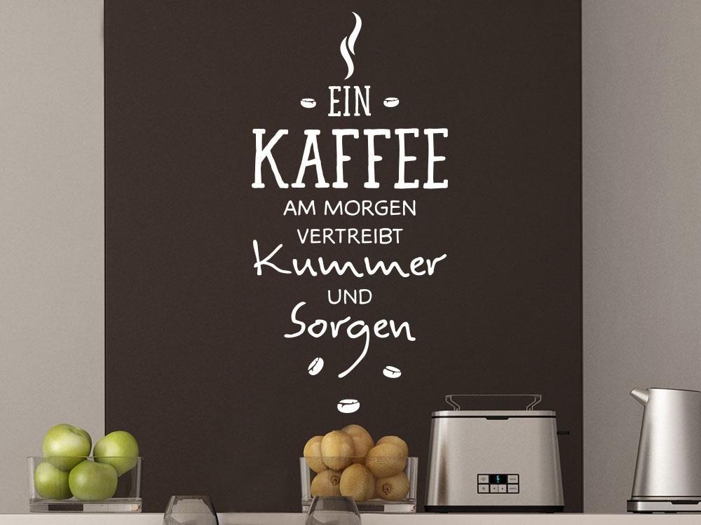 Wandtattoo Spruch Wandtattoo Ein Kaffee am Morgen in Wohnküche