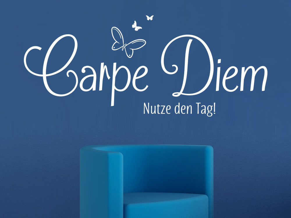 Wandtattoo Carpe Diem No.4 inkl. Schmetterlinge