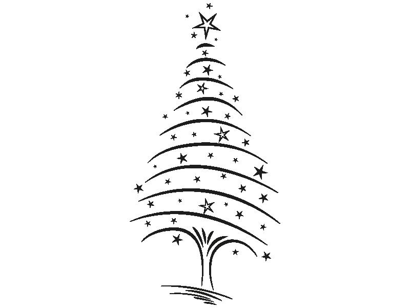 Sterne Für Weihnachtsbaum.Wandtattoo Weihnachtsbaum Mit Sternen