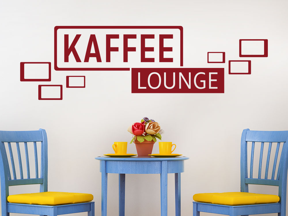 Wandtattoo Kaffee Lounge Retro Cubes