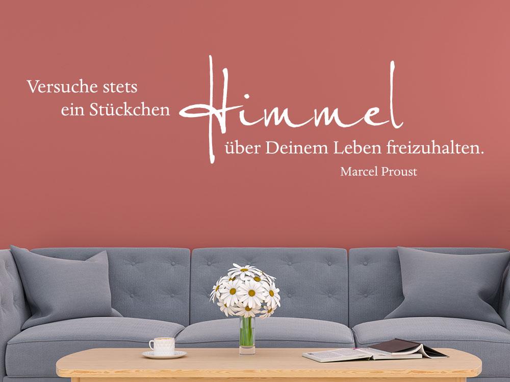 Wandtattoo Versuche stets ein Stückchen Himmel... Zitat von Marcel Proust