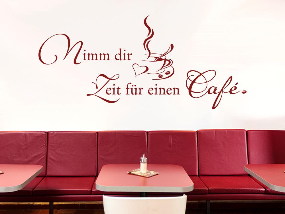Café Wandtattoo Spruch