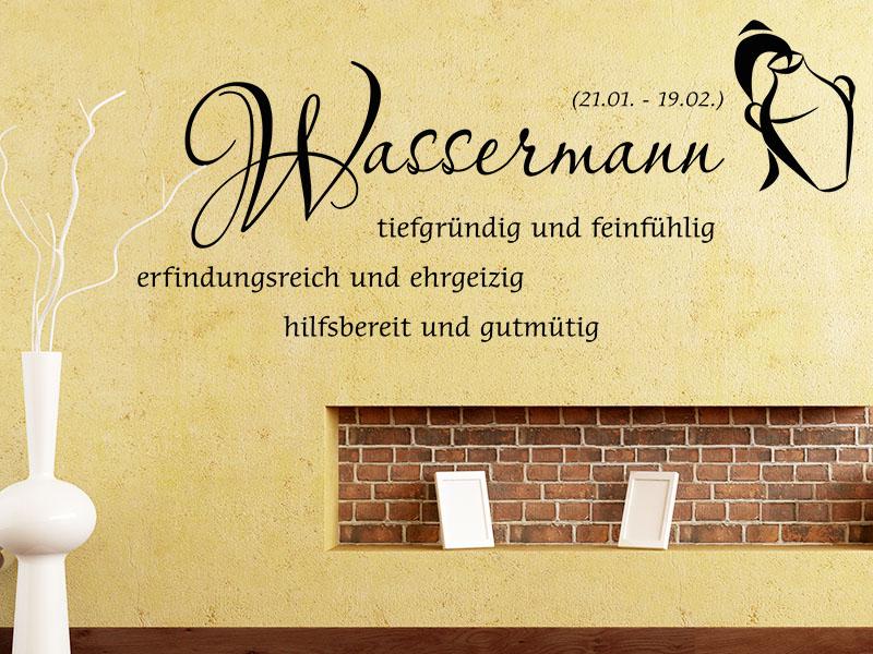 Wandtattoo Sternzeichen Wassermann - No.2