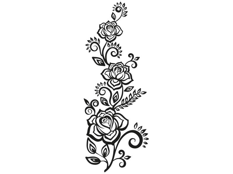 rosenranke wandtattoo rosen ranke rose wandtattoo ranken. Black Bedroom Furniture Sets. Home Design Ideas