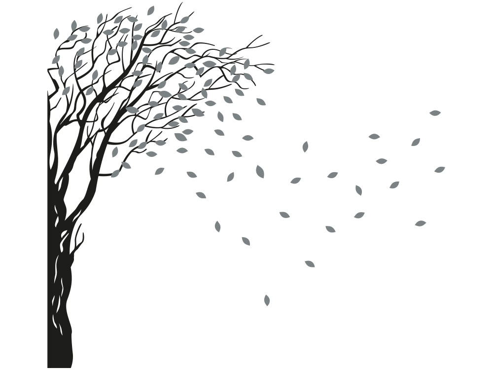 Wandtattoo Baum Wandecke Gesamtansicht