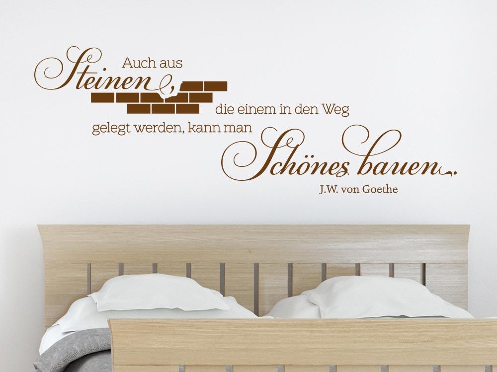 Wandtattoo Aus Steinen Schönes bauen... im Schlafzimmer