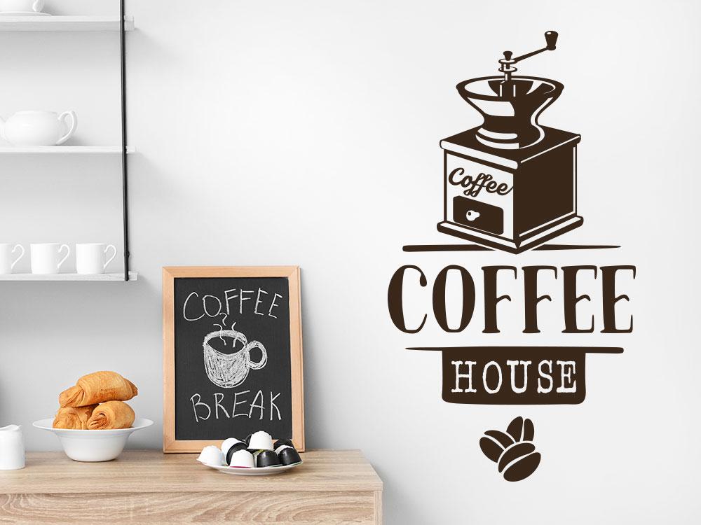 Wandtattoo Coffee House