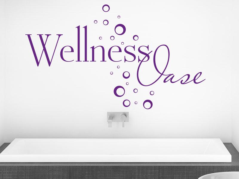 Wandtattoo Wellness Oase mit Seifenblasen