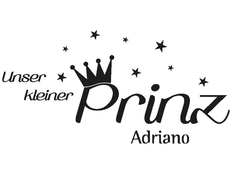Wandtattoo Unser Kleiner Prinz Mit Wunschname Klebeheld De