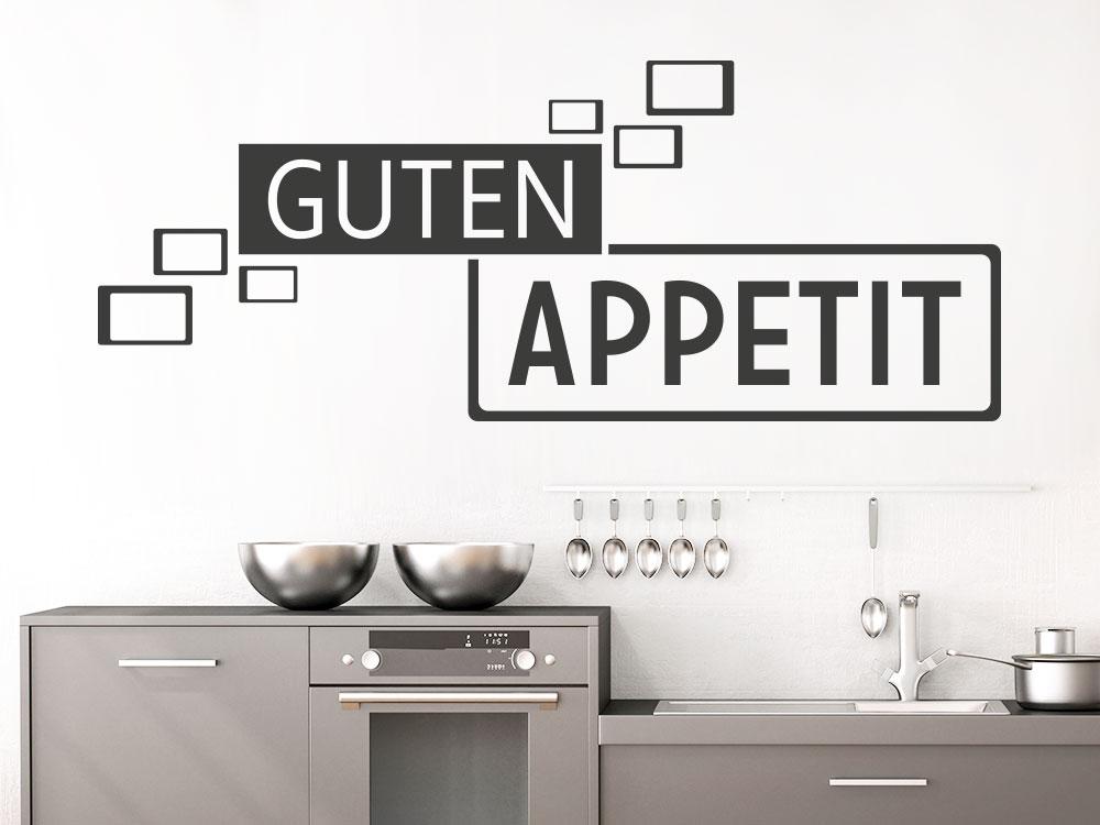 Wandtattoo Guten Appetit Retro Cubes über Küchenzeile