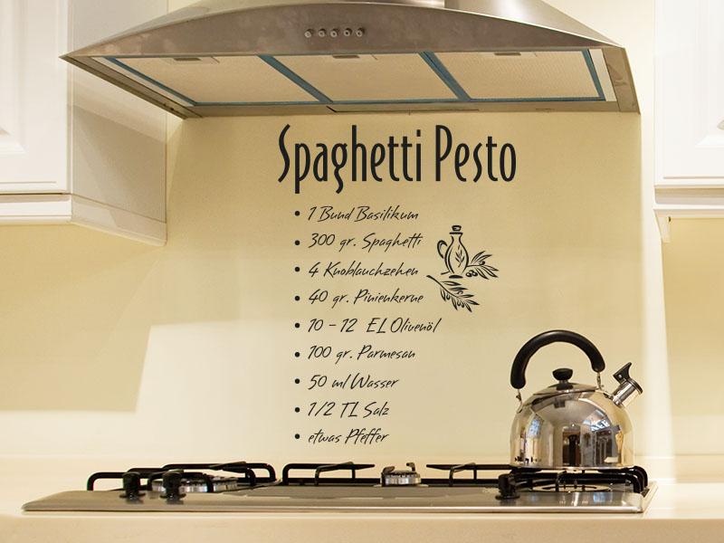 Wandtattoo Spaghetti Pesto