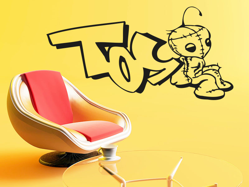 Wandtattoo Graffiti Toy….