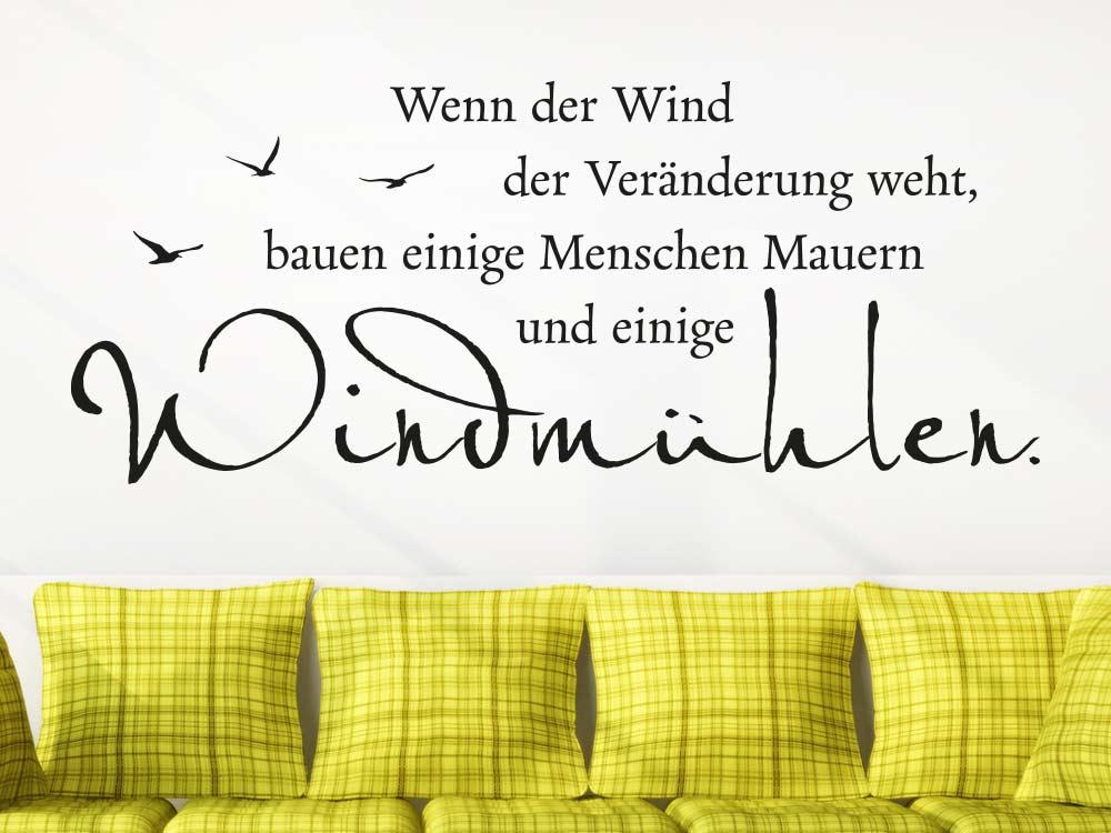 Wandtattoo Windmühlen