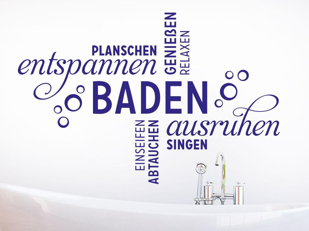 Wandtattoo Baden