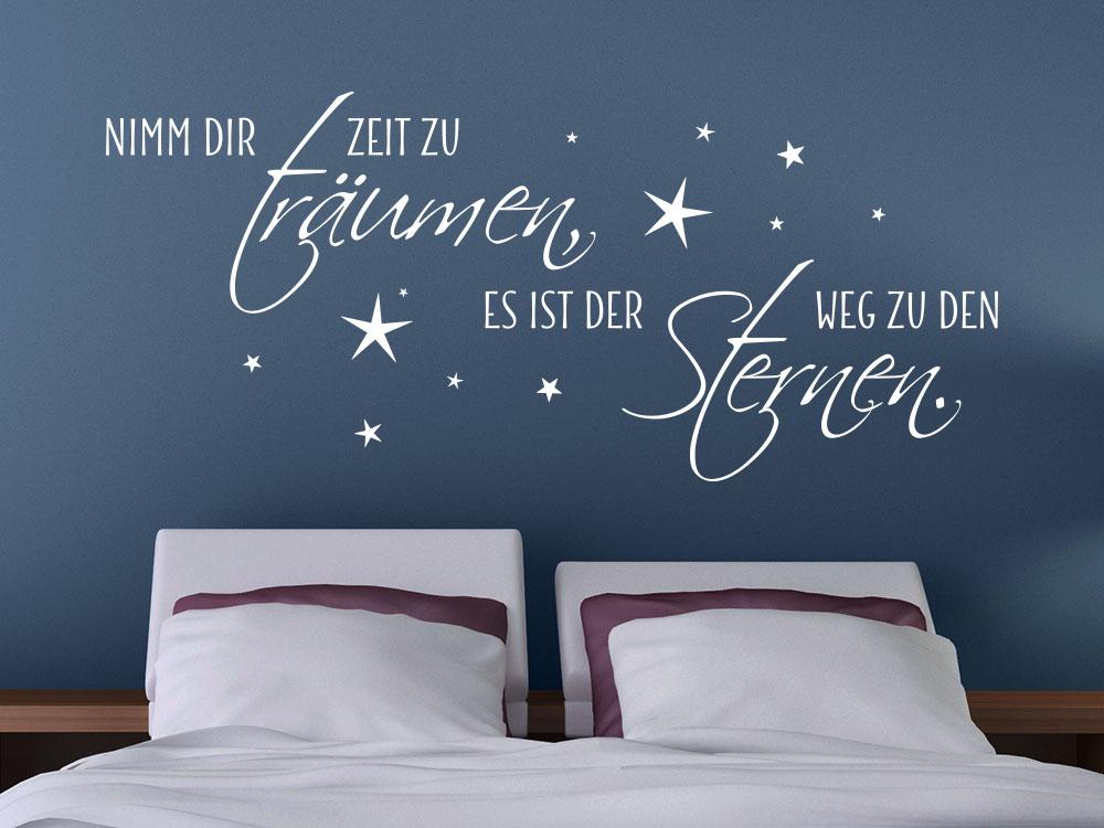 Wandtattoo Nimm dir Zeit zu träumen, es ist der Weg zu den Sternen. No.2