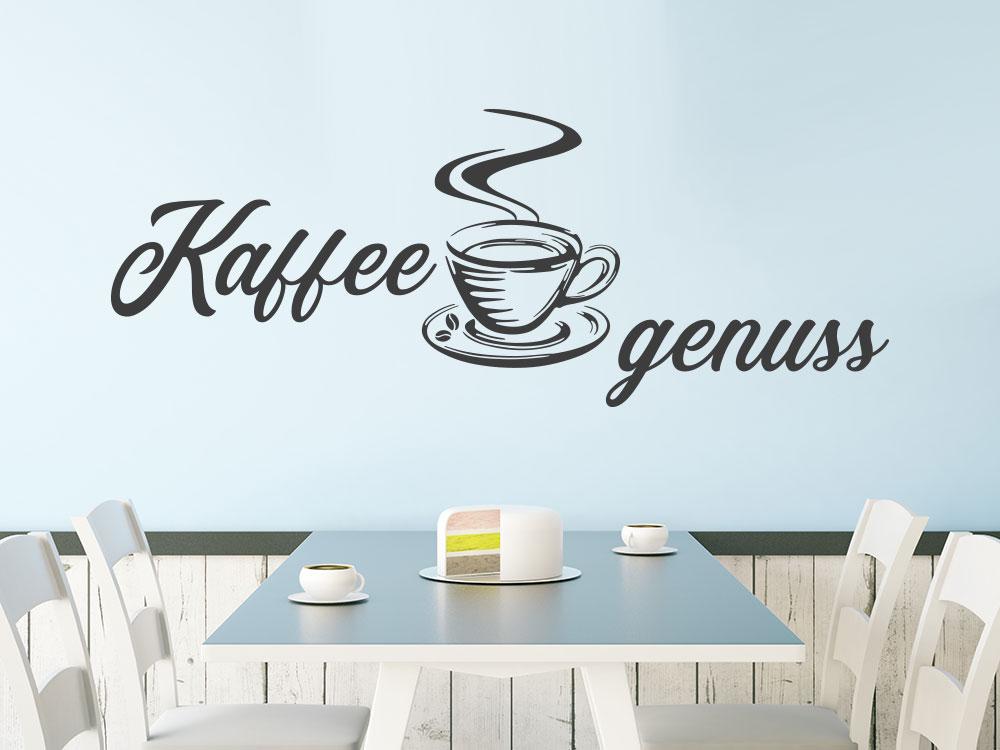 Wandtattoo Kaffeegenuss im Esszimmer