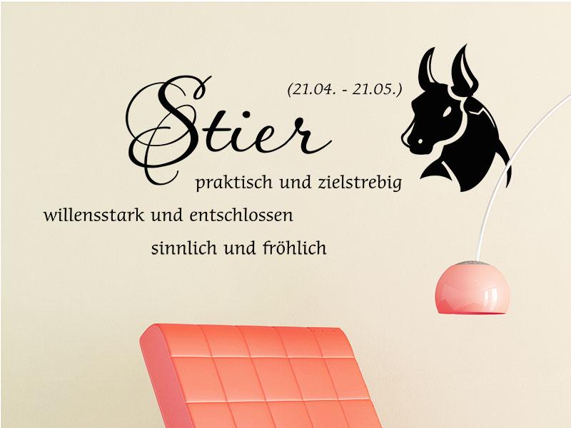Wandtattoo Sternzeichen Stier
