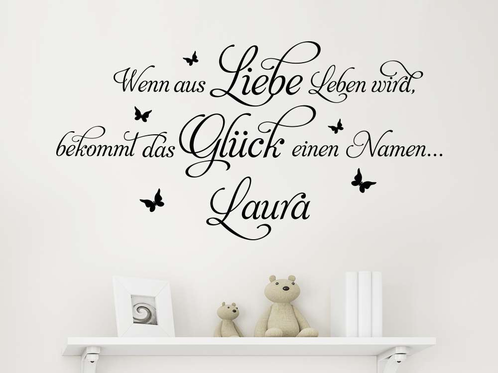 wandtattoo spruch wenn aus liebe von klebeheld de. Black Bedroom Furniture Sets. Home Design Ideas