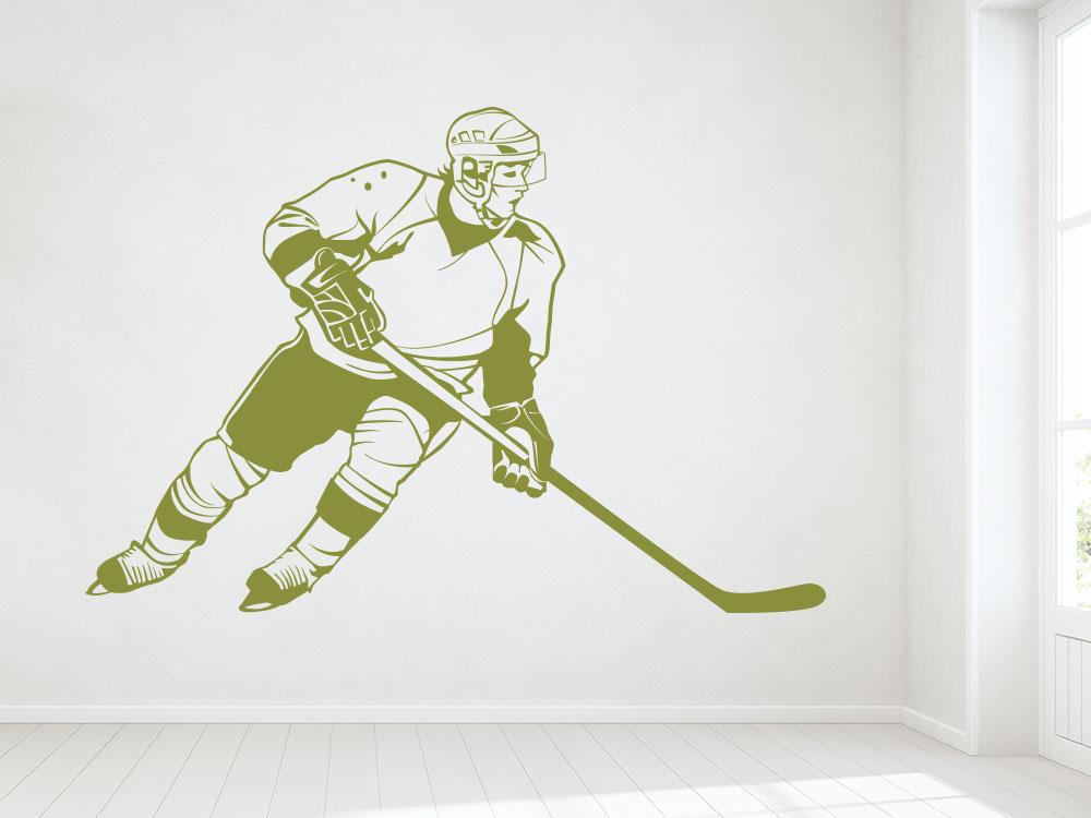Eishockeyspieler Wandtattoo im Eingang