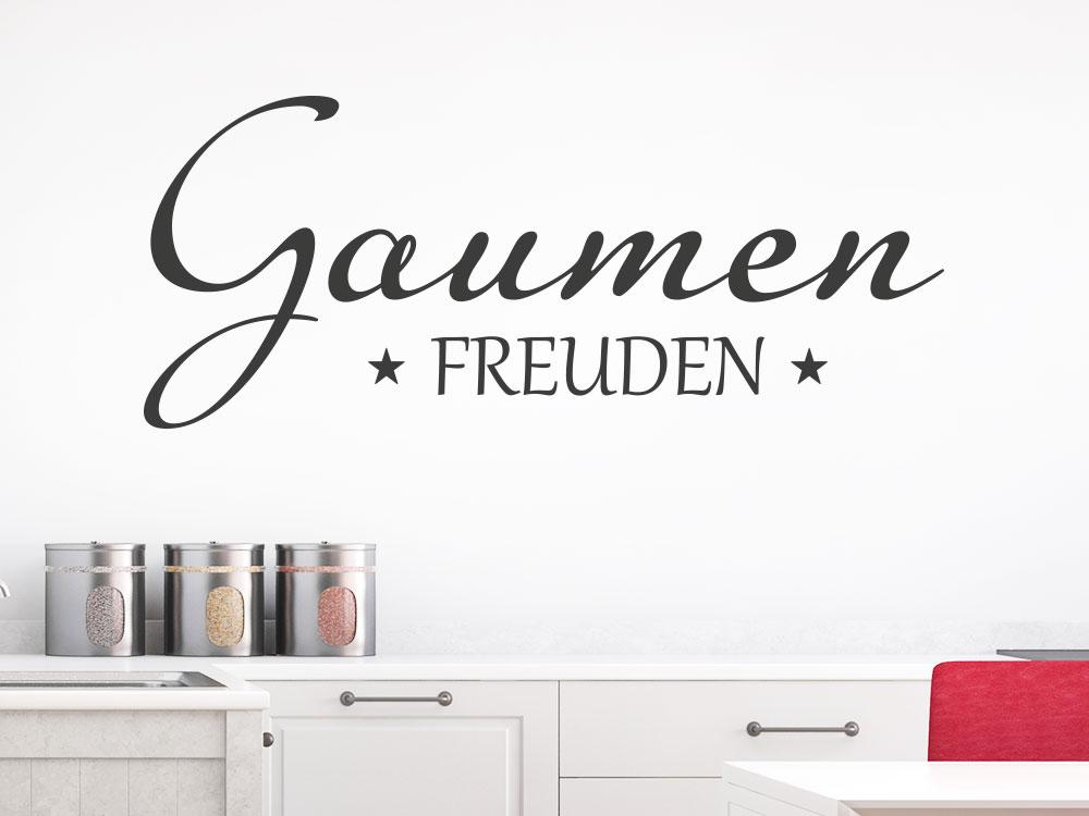 Wandtattoo Gaumenfreuden Küche