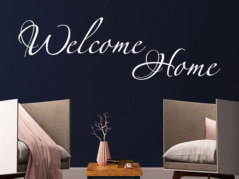 Wandtattoo Welcome Home Schriftzug