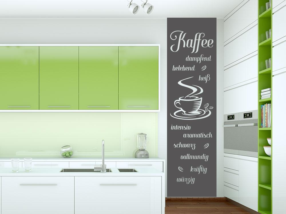 Wandtattoo Banner Kaffespezialitäten