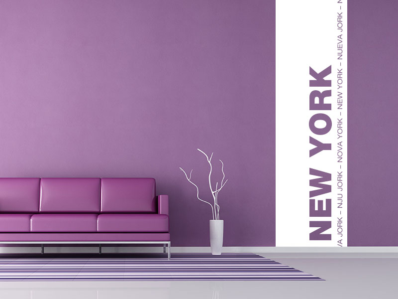 wandtattoo banner als wandbanner metropole new york wandtattoos. Black Bedroom Furniture Sets. Home Design Ideas
