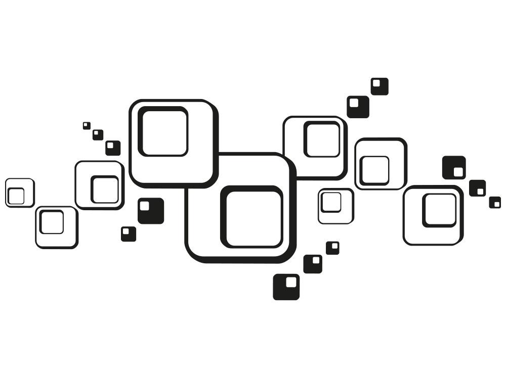 Wandtattoo Retro Cube Quadrate - Einzelansicht des Wandtattoos