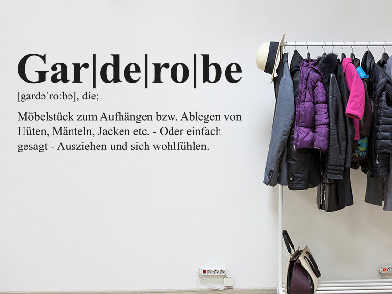 Wandtattoo Garderobe Definition