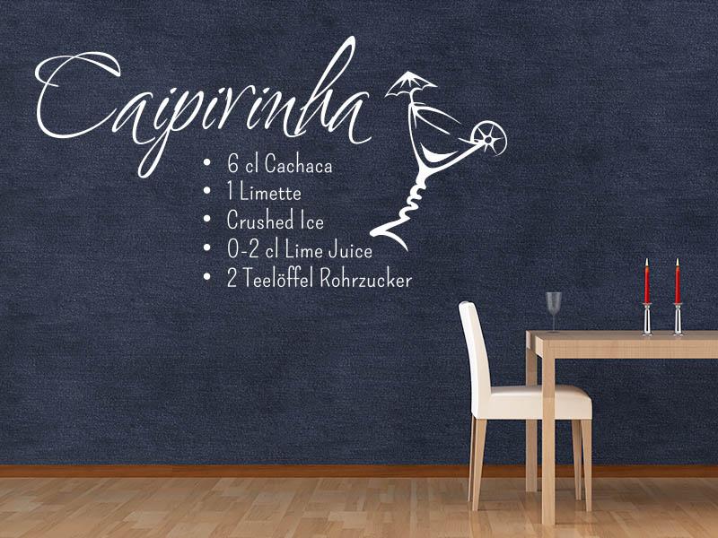 Wandtattoo Cocktail Caipirinha