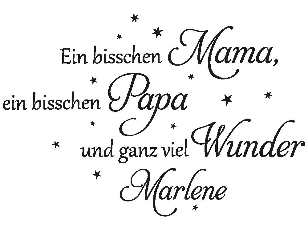 Wandtattoo Ein bisschen Mama mit Name - Einzelansicht des Wandtattoos