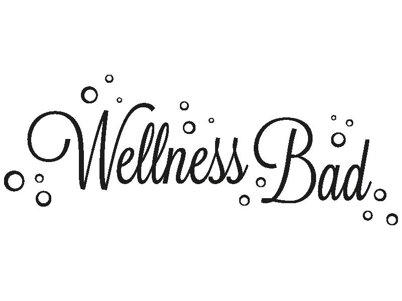Wellness schriftzug  Wandtattoo Wellness Bad von KLEBEHELD®