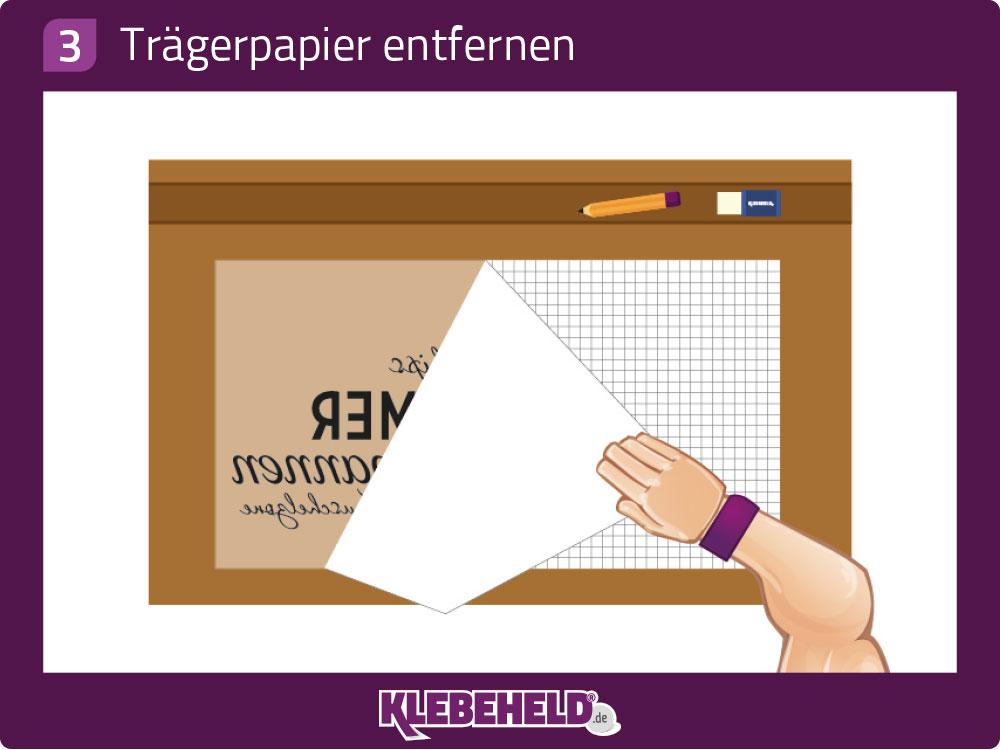 Anleitung: Trägerpapier vom Wandtattoo ablösen, trennen und entfernen