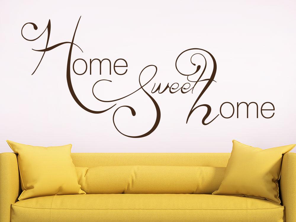 Kreatives Home Sweet Home Wandtattoo im Wohnbereich