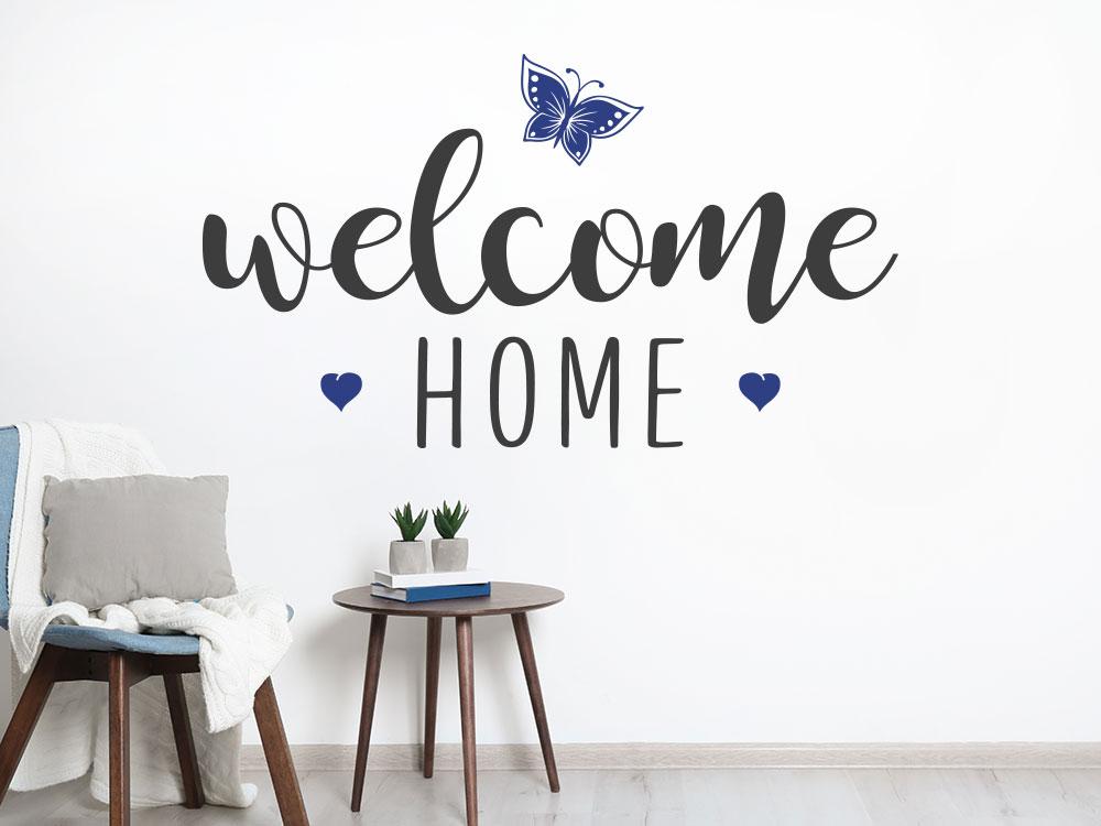 Welcome home Wandtattoo zweifarbig