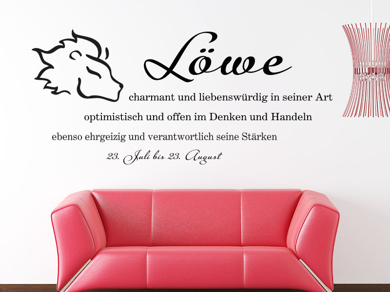 wandtattoo sternzeichen l we bei klebeheld entdecken. Black Bedroom Furniture Sets. Home Design Ideas