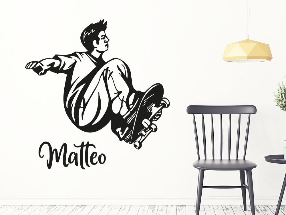 Wandtattoo Cooler Skater