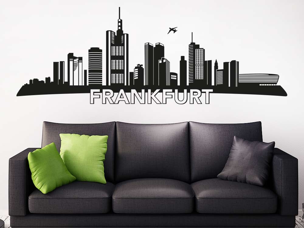 Wandtattoo Frankfurt als Skyline