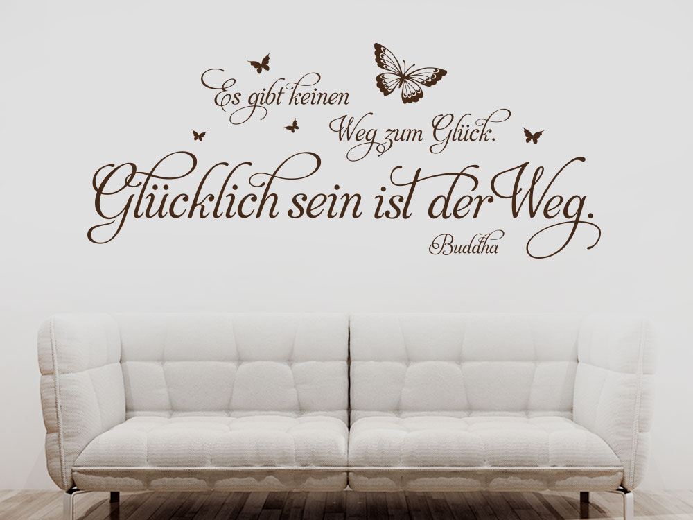wandtattoo der weg zum gl ck von klebeheld de. Black Bedroom Furniture Sets. Home Design Ideas