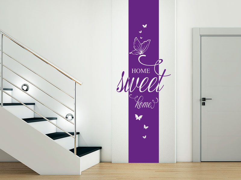 Wandtattoo Banner Sweet Home