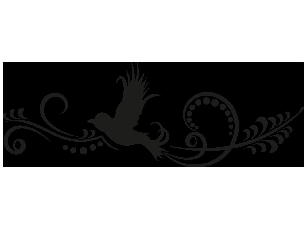 wandtattoo vogel ornament von klebeheld de. Black Bedroom Furniture Sets. Home Design Ideas