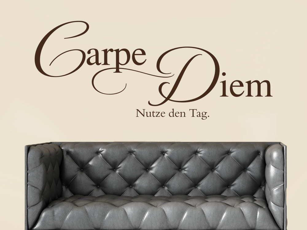 Wandtattoo Carpe Diem No.7 in Farbe braun