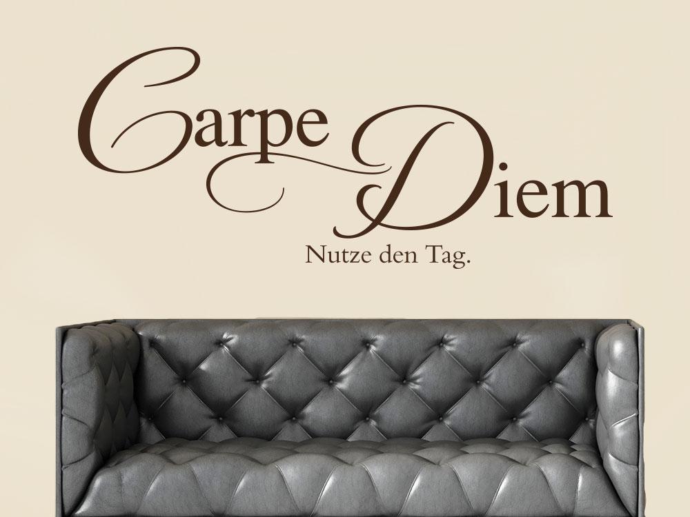 Wandtattoo Carpe Diem No.7 in Farbe braun