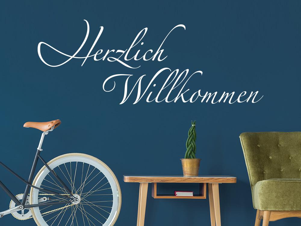 Wandtattoo Herzlich Willkommen als dekorative Gestaltungsidee für den Flur