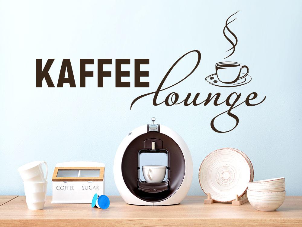 Wandtattoo Retro Kaffee Lounge