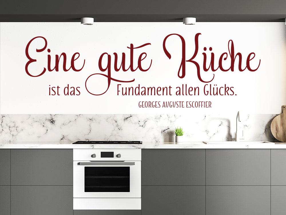 Wandtattoo Zitat Eine gute Küche