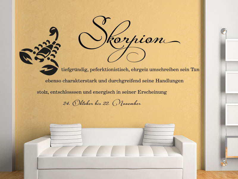 wandtattoo sternzeichen skorpion bei klebeheld kaufen. Black Bedroom Furniture Sets. Home Design Ideas